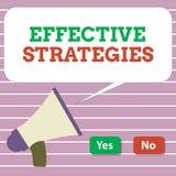 Effektiva strategier för handskrifttext Beslut för taktisk intrig för begreppsbetydelseljud kraftiga fungerande vektor illustrationer