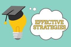 Effektiva strategier för ordhandstiltext Affärsidé för kraftiga fungerande beslut för solid taktisk intrig royaltyfri illustrationer