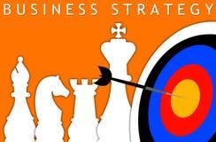 Effektive leistungsfähige Geschäftsstrategie lizenzfreie abbildung