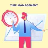Effektive Planung, Zeit-Management-Illustration stock abbildung