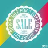 Effektive Rabatt-Verkaufs-Fahne Lokalisiertes dekoratives billiges Vektor-Band Design der Illustrations-EPS10 Lizenzfreie Stockfotos
