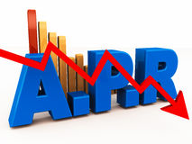 Effektiver Jahreszins Stockfotos