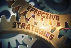 Effektives Strategie-Konzept Goldene Gänge Abbildung 3D Lizenzfreie Stockfotos