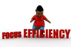 effektivitet för fokus 3d Arkivbild