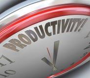 Effektivitet för produktivitetsklockaförhöjning som tillverkas som göras mindre Tim vektor illustrationer