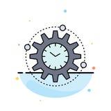 Effektivitet ledning som bearbetar, produktivitet, för färgsymbol för projekt plan vektor stock illustrationer
