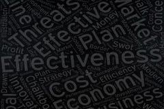 Effektivitet ordmolnkonst på svart tavla fotografering för bildbyråer