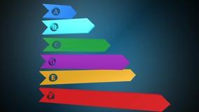 Effektivitetsdiagram, animering, bästa effektivitetsdiagram stock video