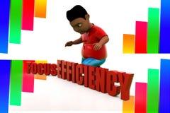effektivitetsillustration för fokus 3d Arkivbild
