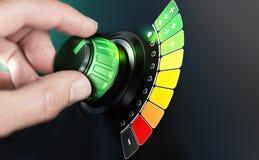 Effektivt begrepp för energi Arkivfoto