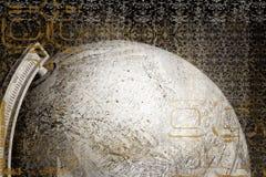 effektjordklotgrunge royaltyfri illustrationer