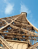 Effel top. The top of the Eiffel Tower in Paris, France stock image