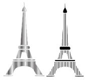 Effel tower design in black lines Stock Photos
