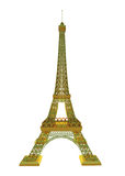 Effel tower is isolated on a white background Royalty Free Stock Image