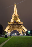 Effel Tower at night Royalty Free Stock Photo