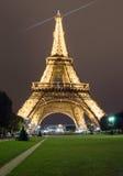 Effel Tower at night Royalty Free Stock Photo
