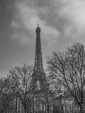 Effel Tower, Paris, France. Black and white Royalty Free Stock Photography