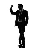 Effeminate snobbish business man silhouette Stock Images