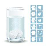 Effervescent tablets Stock Image