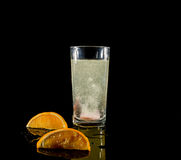 Effervescent tablets and water Stock Photo