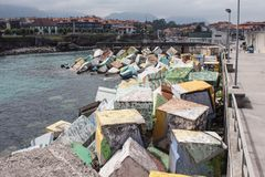 Effet artistique sur des cubes pour le port Images stock