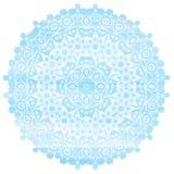 Effet bleu-clair d'aquarelle de mandala cru Image stock