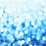 Effet bleu de bokeh Photographie stock
