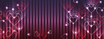 Effet coloré de bannière de l'amour neuf Image libre de droits