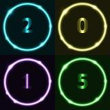 Effet coloré de cercle avec 2015 Image stock