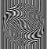 Effet d'illusion optique Tuile géométrique dans le style d'art de bruit de menfis Fond trompeur de vecteur, texture Élément futur illustration stock