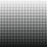 Effet d'image tramée de point Demi-ton abstrait monochrome de cercle illustration libre de droits