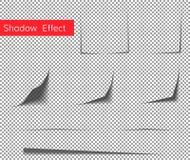Effet d'ombre de papier de boucle Images stock