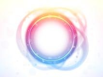 Effet de balai de cadre de cercle d'arc-en-ciel. illustration libre de droits
