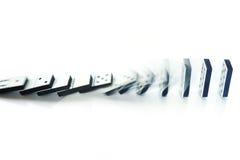 Effet de domino Photo stock