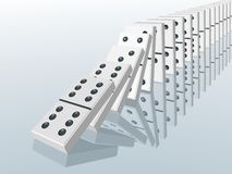 Effet de domino illustration stock