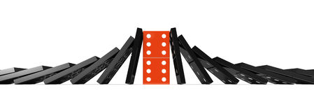 Effet de domino Photo stock