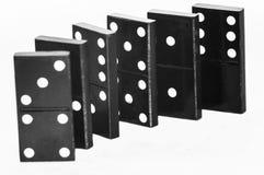 Effet de domino et jeu Photo libre de droits