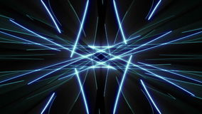 Effet de fond visuel bleu de rayons laser clips vidéos