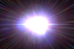 Effet de fusée de lentille Image stock