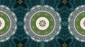 Effet de kaléidoscope de vue hiérarchisée aérienne de circulation routière de rond point banque de vidéos