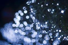 Effet de la lumière bleu Defocused photos stock