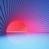 Effet de la lumière en rendu du tunnel 3d Photographie stock