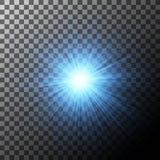 Effet de la lumière, fusée rougeoyante Élément de vecteur Image stock