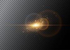 Effet de la lumière, fusée rougeoyante Élément de vecteur Photo stock