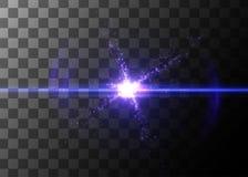 Effet de la lumière, fusée rougeoyante Élément de vecteur illustration de vecteur