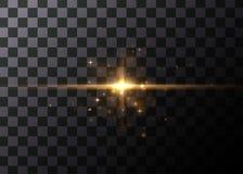 Effet de la lumière, fusée rougeoyante Élément de vecteur illustration stock