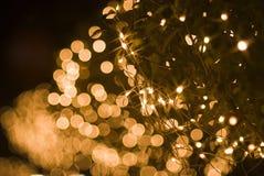 Effet de la lumière jaune Defocused Photos libres de droits