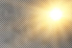 Effet de la lumière de lueur Éclat d'étoile avec des étincelles illustration de vecteur