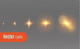 Effet de la lumière de lueur Éclat d'étoile avec des étincelles Étoile d'animation illustration libre de droits