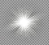 Effet de la lumière de lueur Éclat d'étoile avec des étincelles Illustration de vecteur Photographie stock libre de droits